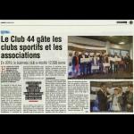 Le Club 44 gâte les clubs sportifs et les associations